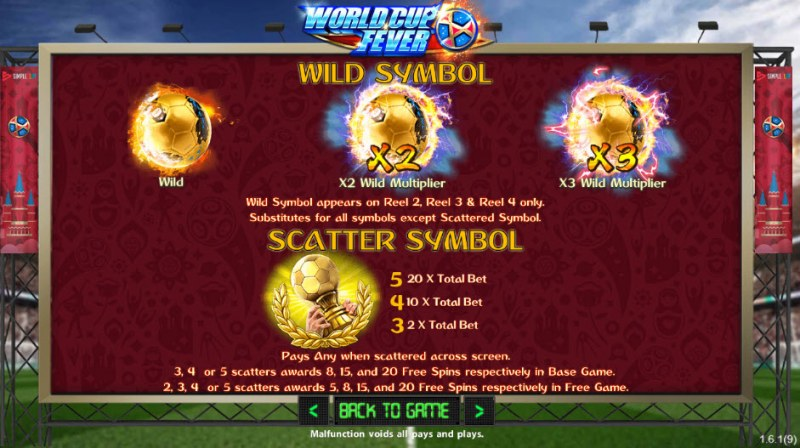 World Cup Fever :: Wild and Scatter Rules