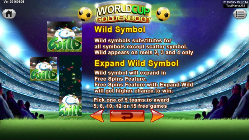 World Cup Golden Boot :: Wild Symbols Rules