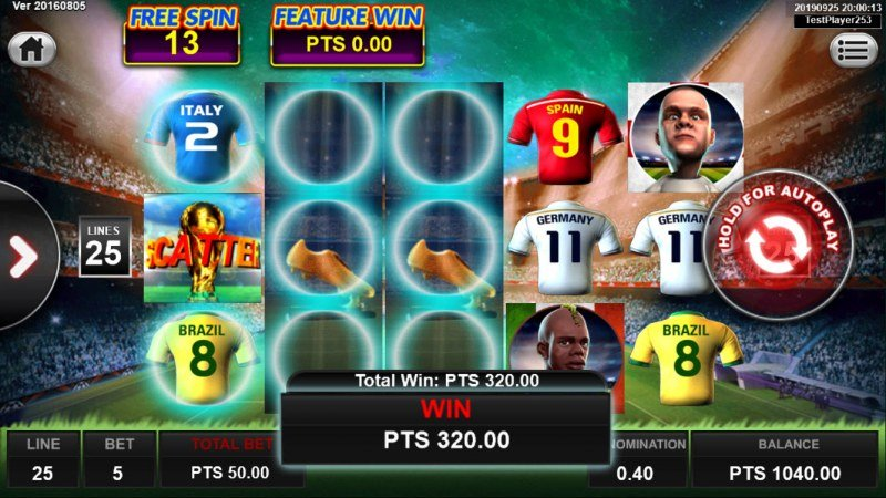 World Cup Golden Boot :: Free Spins Game Board