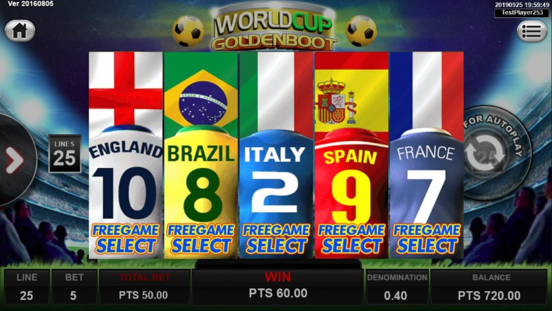 World Cup Golden Boot :: Select a jersey to reveal the number of free games won