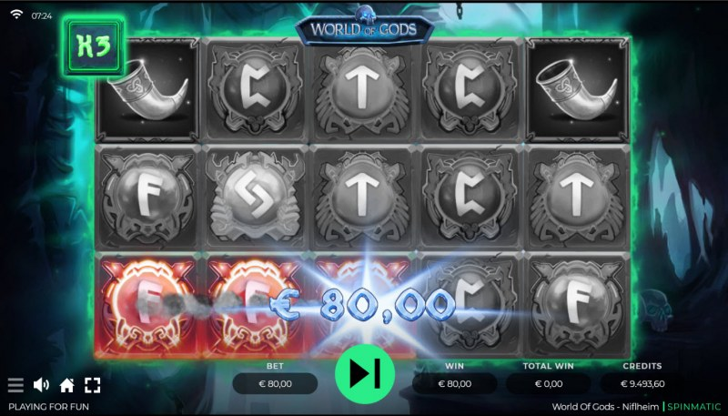 World of Gods Niflheim :: Free Spins Game Board