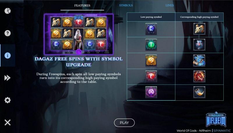 World of Gods Niflheim :: Free Spin Feature Rules