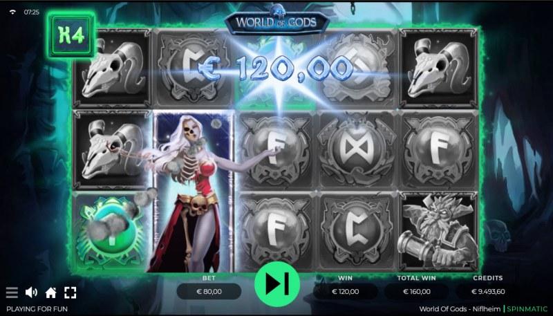 World of Gods Niflheim :: A three of a kind win