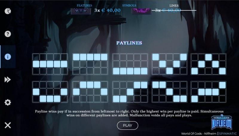 World of Gods Niflheim :: Paylines 1-10