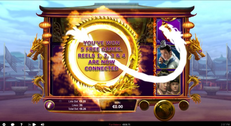 Wu Zetian :: 5 free spins awarded
