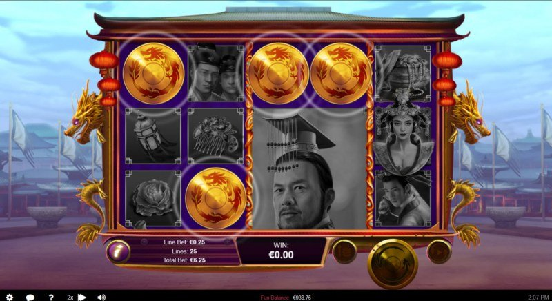 Wu Zetian :: Scatter symbols triggers the free spins bonus feature