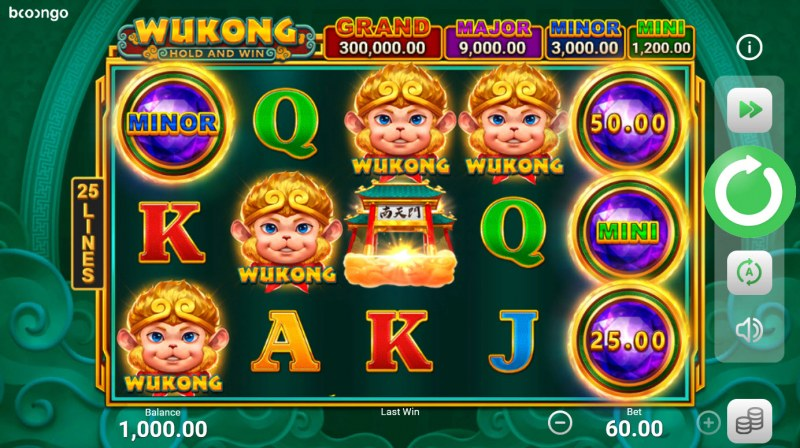 Wukong Hold and Win :: Base Game Screen