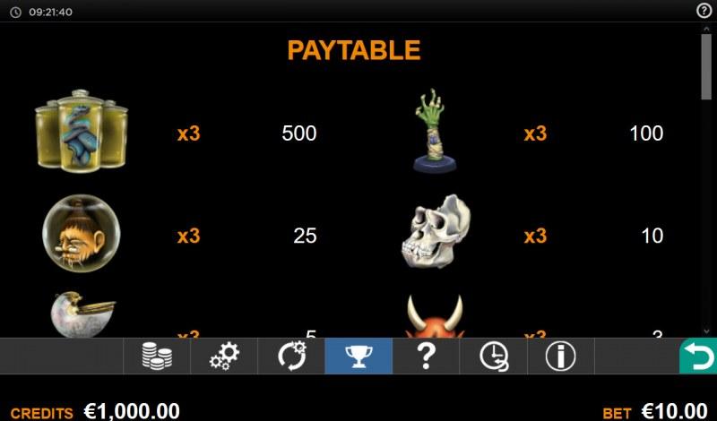 Wunder Shop Reveal :: Paytable - High Value Symbols