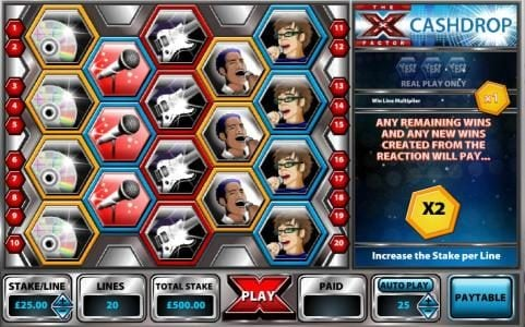 Play slots at 007 Slots: 007 Slots featuring the Video Slots X - Factor Cashdrop with a maximum payout of $25,000
