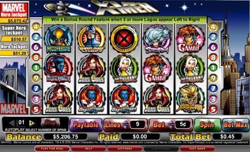 Play slots at Spinland: Spinland featuring the video-Slots X-Men with a maximum payout of 7,500x