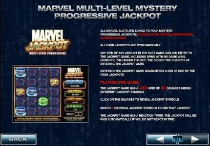 Vernons featuring the Video Slots X-Men with a maximum payout of $500,000