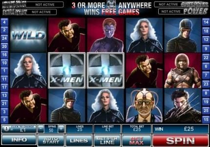 My Win 24 featuring the Video Slots X-Men with a maximum payout of $500,000