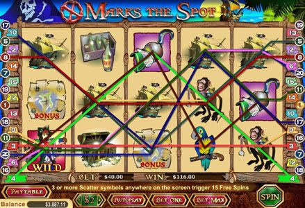 Lincoln featuring the Video Slots X Marks The Spot with a maximum payout of $40,000
