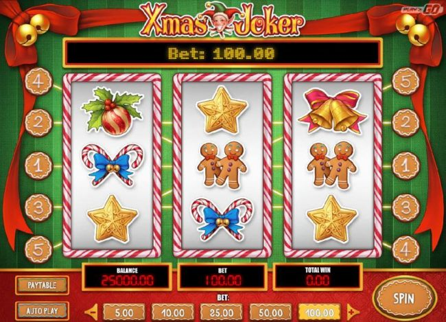 Play slots at House of Jack: House of Jack featuring the Video Slots Xmas Joker with a maximum payout of $2,000