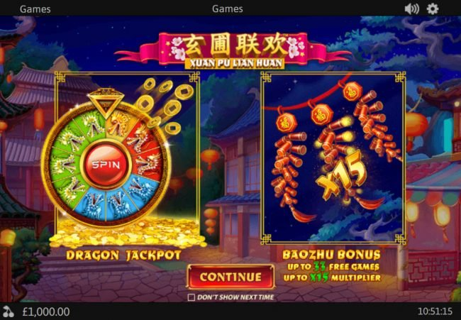 Play slots at Chips Palace: Chips Palace featuring the Video Slots Xuan Pu Lian Huan with a maximum payout of $125,000