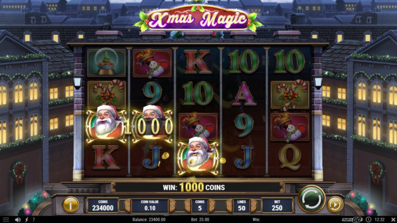 Xmas Magic :: Scatter symbols triggers the free spins feature