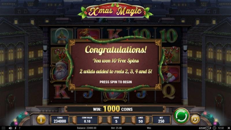 Xmas Magic :: 10 Free Spins Awarded