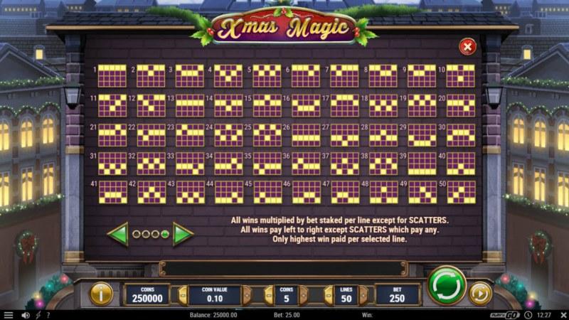 Xmas Magic :: Paylines 1-50