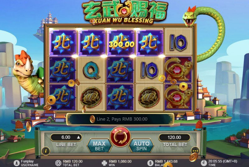 Xuan Wu Blessing :: Multiple winning paylines