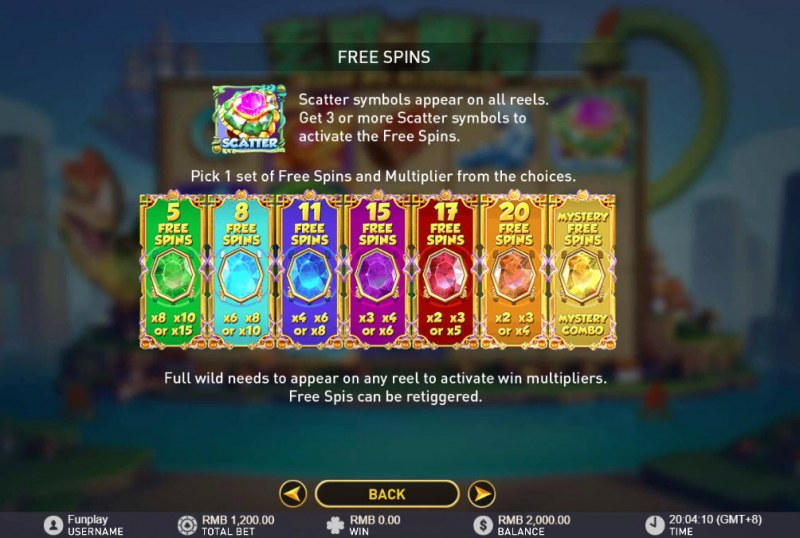 Xuan Wu Blessing :: Free Spins Rules