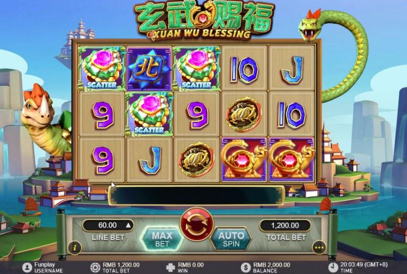 Xuan Wu Blessing :: Main Game Board