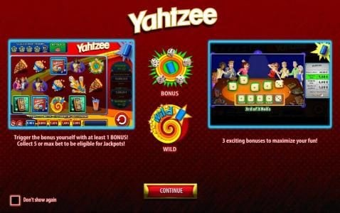 Mega Casino featuring the Video Slots Yahtzee with a maximum payout of $40,000