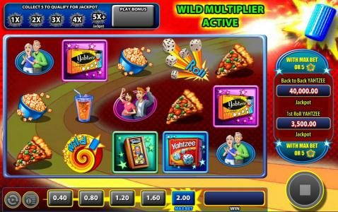 Karl Casino featuring the Video Slots Yahtzee with a maximum payout of $40,000