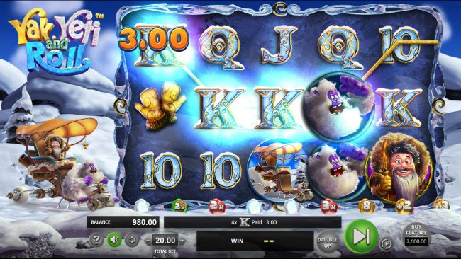 Real Bet featuring the Video Slots Yak Yeti and Roll with a maximum payout of $92,750