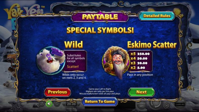 Drake featuring the Video Slots Yak Yeti and Roll with a maximum payout of $92,750