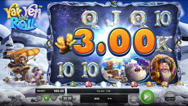 MyBcasino featuring the Video Slots Yak Yeti and Roll with a maximum payout of $92,750