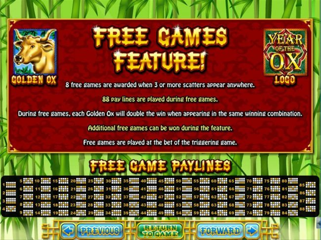Slots of Vegas featuring the Video Slots Year of Fortune with a maximum payout of $444,440