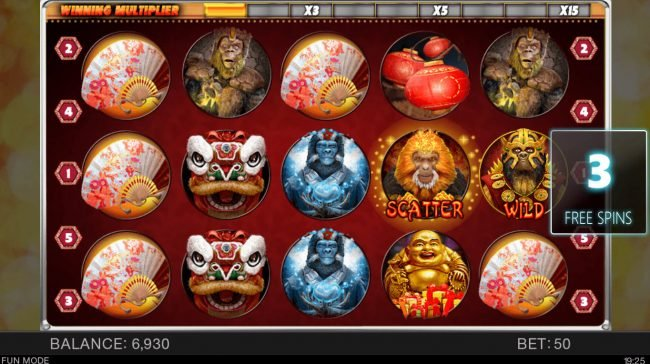 Year of the Monkey :: Free Spins Game Board