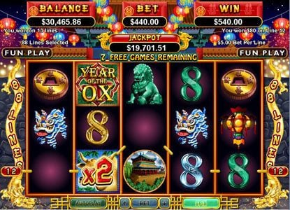 Planet 7 featuring the Video Slots Year of Fortune with a maximum payout of $444,440