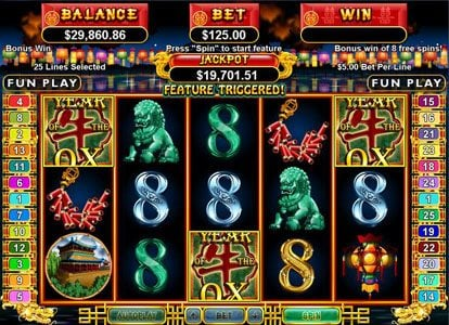 Mega 7's featuring the Video Slots Year of Fortune with a maximum payout of $444,440