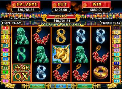 Rushmore featuring the Video Slots Year of Fortune with a maximum payout of $444,440