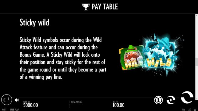 Come On featuring the Video Slots Yeti Battle of Greenhat Park with a maximum payout of $38,500