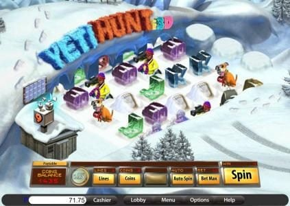 Play slots at Planet Casino: Planet Casino featuring the Video Slots Yeti Hunt i3D with a maximum payout of 8000x
