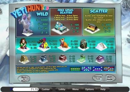 Jumba Bet featuring the Video Slots Yeti Hunt i3D with a maximum payout of 8000x