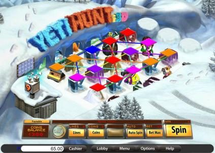 Jupiter Club featuring the Video Slots Yeti Hunt i3D with a maximum payout of 8000x