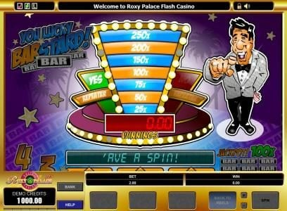 UK Casino Club featuring the Video Slots You Lucky Barstard with a maximum payout of $10,000
