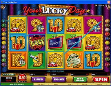 Lucky Nugget featuring the Video Slots Your Lucky Day with a maximum payout of $50,000