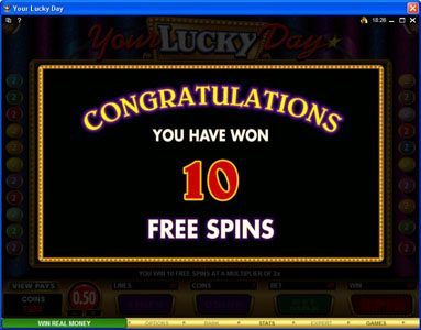 Zodiac featuring the Video Slots Your Lucky Day with a maximum payout of $50,000