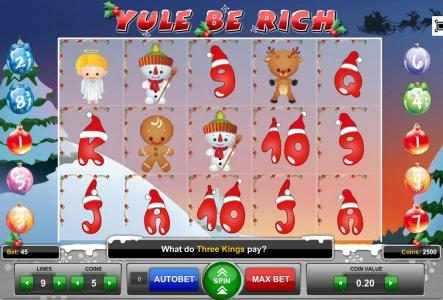 Play slots at Enzo Casino: Enzo Casino featuring the Video Slots Yule Be Rich with a maximum payout of $3,750