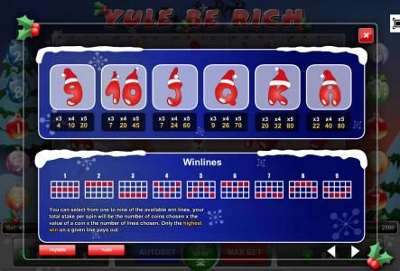 Play slots at TS: TS featuring the Video Slots Yule Be Rich with a maximum payout of $3,750