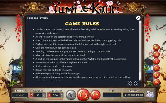 Yumi & Kaori :: Basic Game Rules