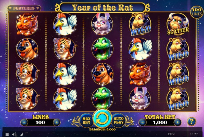 Year of the Rat :: Main Game Board