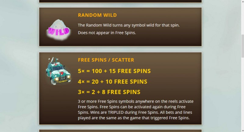 Yeti Hunt :: Free Spins Rules