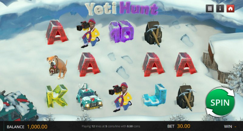 Yeti Hunt :: Main Game Board