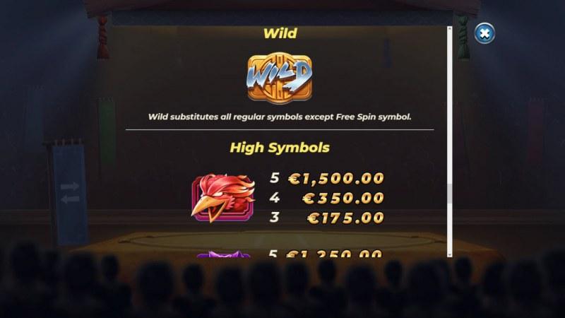 Yokozuna Clash :: Paytable - High Value Symbols