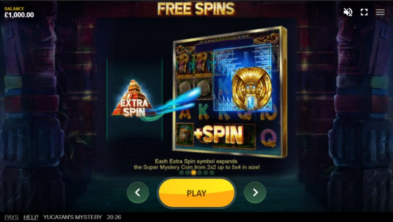 Yucatan's Mystery :: Free Spins Rules